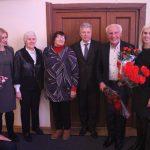 Pasveikinti J. Rinkevičiaus atvyko dukra Meilė, aktyvios vieviškės Audronė Davidavičienė, Karolina Naprienė, seniūnas Zenonas Pukėnas bei Vievio kultūros centro kultūrinių renginių organizatorė Agnė Muškietaitė