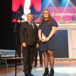 Justinai Kmieliauskaitei apdovanojimą įteikė Seimo narys Jonas Liesys. Justina scenoje dėkojo tėvams, kurie atvedė ją į dziudo sportą, ir treneriui Ramūnui Žemaitaičiui