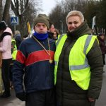 Vyriausias varžybų dalyvis Juozas Gudeliūnas ir Birutė Vaišnienė
