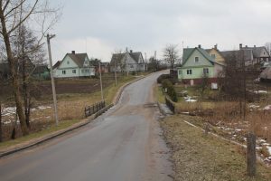Strėvos gatvė Semeliškėse, tiltas per Strėvą prie buvusio Semeliškių malūno
