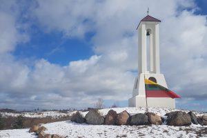 Žvilgsnis į Dzenkūniškių kaimą, kuriame iškilo paminklas  Lietuvos šimtmečiui