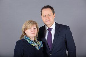 Valdemar Tomaševski su žmona Violeta, 2019 m. kovas