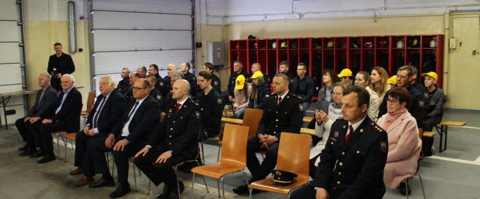 Profesinės šventės proga pagerbti ugniagesiai