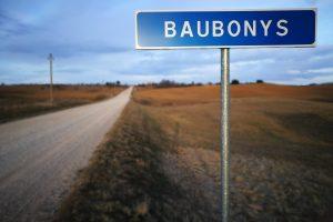 Rodyklė į Baubonių kaimą