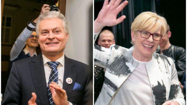 Gitanas Nausėda ir Ingrida Šimonytė. 15min nuotr.