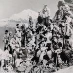 Pirmieji Lietuvos alpinistai pokario laikotarpiu. Romualdo Augūno nuotrauka