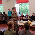 MRE pristatymas Gilučių kultūros centro salėje, kur buvome pakviesti sušilti ir išsidžiovinti
