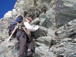 Bruno Margevičius kopia į kalną