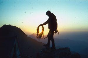 Fantastinio grožio saulėlydis kalnuose