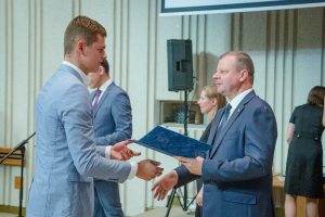 Nuotrauka istorijai: Padėka iš Ministro  pirmininko S. Skvernelio