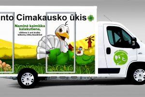 """Tokiu moderniu automobiliu savo produkciją galės vežti ūkininkai  Gintas Cimakauskas bei Valdas Kavaliauskas. """"Carlsen Baltic"""" nuotr."""