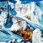 Klasės draugo Viliaus Jorkūno tapytas paveikslas, Komunizmo viršūnės fone 6500 m