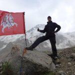 G. Juzukonis su Vyčiu stovykloje link Akstino (Tian Šanis, 2015-07-24)