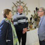 Bendrų temų pokalbiui rado tapytojas Romaldas ir Irena Skorupskai bei dailininkas Aleksandras Lysiukas