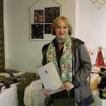 Dainora Januškienė parodoje eksponavo batikos paveikslus