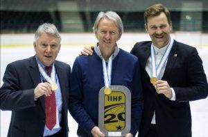 Kartu su Lietuvos rinktinės treneriais Bernd Haake ir Jim Setters
