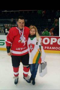 D. Kulevičius su žmona Evelina