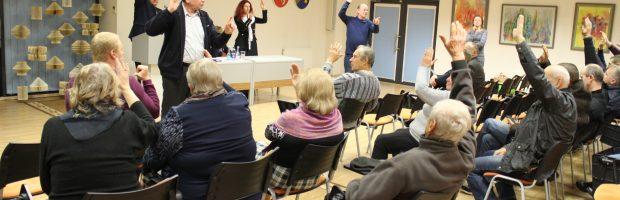 Susirinkime visi balsavimai buvo atviri, todėl balsus skaičiavo į kiekvieną  balsuojantį  baksnodami pirštais