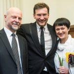 A. Malcys, M. Pitrėnas ir žmona Vaiva