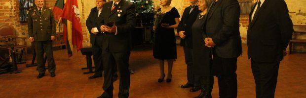 Atsiimdamas apdovanojimą  G. Vilkelis linkėjo visiems saugoti Lietuvos nepriklausomybę