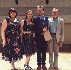 Su mama Elvyra, sese Emilija ir tėčiu Vytautu