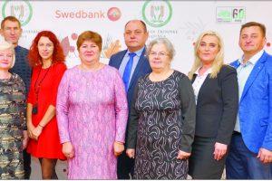 Iš kairės: K. Vėželis, V. Mažeika, D. Vėželienė, A. Grotuzas, G. Sinkevičienė, V. Mičiulienė, R. Ivaškevičius,  Z. Dansevičienė, M. ir J. Gackai, M. Sinkevičius