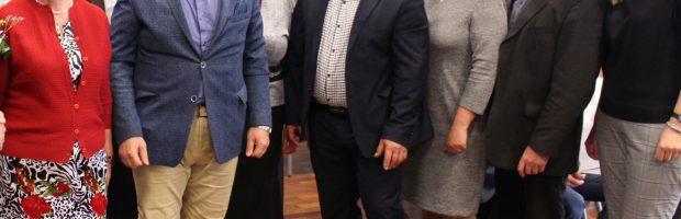 2019-ųjų metų seniūnai. Iš kairės: Vladislava Valantavičienė, Zenonas Pukėnas, Antanas Šalkauskas, Dovilija Cibulskienė, Arūnas Kanapeckas,  Loreta Karalevičienė, Mindaugas Makūnas, Kristina Vitartė