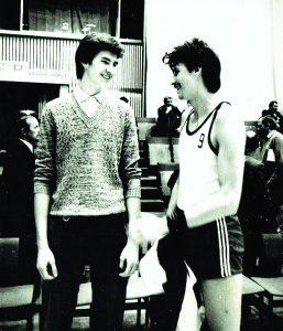 A. Vainauskas (dešinėje) su broliu Dariumi