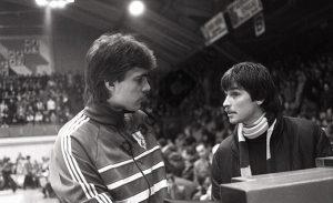 Arvydas Sabonis ir Alfredas Vainauskas. 1986 m.