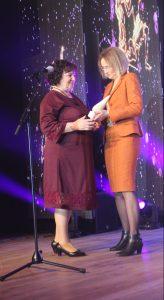 Birutei Grybauskienei nominaciją įteikė savivaldybės Socialinės paramos skyriaus vedėja Violeta Šimkūnienė