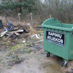 Į gyventojos pastabas Elektrėnų seniūnija sureagavo operatyviai – kitą dieną atliekų krūvos nebeliko