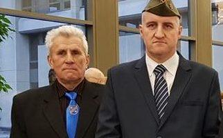 Bronius Pargaliauskas su Lietuvos Nepriklausomybės gynėju Arūnu Surdoku