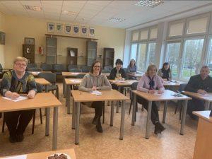Diktanto dalyviai Elektrėnų švietimo paslaugų centre