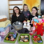 Rasa Kulevičienė su dukromis Urte ir Rusne