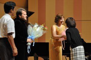 Rūta Rikterė ir Zbignevas Ibelhauptas po koncerto