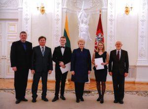 Su prezidente Dalia Grybauskaite po tarptautinių konkursų laureatų apdovanojimų šventės 2019 m.