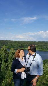 E. Žukauskienė su vyru Gyčiu