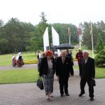 Iš dešinės: Elektrėnų tremtinių ir politinių kalinių sąjungos pirmininkas Jonas Ramanauskas, Romas Saidys ir Birutė Drumstienė