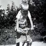 Eglė su broliu Gintaru