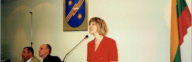 Kalba pirmoji savivaldybės Švietimo skyriaus vedėja Silva Lengvinienė