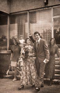 Adelė ir Augenis vestuvių dieną