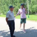 Bėgikus išlydėjo pirmojo bėgimo dalyvis Aleksas Dirvanauskas