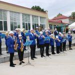 Elektrėnų meno mokyklos pučiamųjų orkestras. Orkestras visada šventei suteikia iškilmingumo