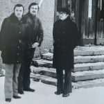 Su LRT vyriausiuoju dirigentu Aloyzu Končiumi, 1970 m.