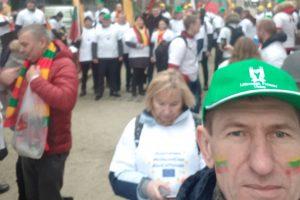 A. Grotuzas su kitais šalies ūkininkais pikete Briuselyje
