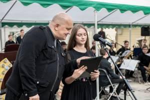 I. Jankaitis veda Vievio meno mokyklos 60-ojo jubiliejaus šventę