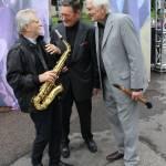 Džiazo veteranai. Iš kairės: E. Kunickas, J. Gabartas, P. Narušis
