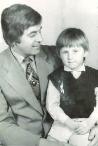 Z. Belickas su sūnumi Andriumi