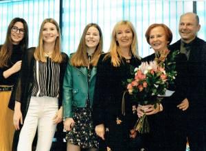 Sūnus Žilvinas, Eugenija Purienė, marti Inga, anūkės Beatričė, Aušrinė, Kristina