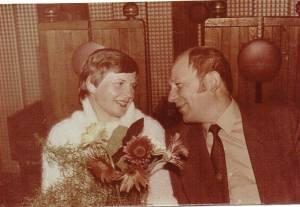 """Eugenija su vyru Vladu 1980 m. Gražūs prisiminimai praleisti restorano """"Perkūnkiemio"""" banketo salėje"""